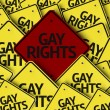 Gay Rights written on multiple road sign — Stock Photo #54400111