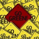 Go Green! written on multiple road sign — Stock Photo #54400441