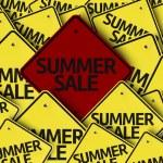 Summer Sale written on multiple road sign — Stock Photo #54401629