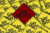 Gay Rights written on multiple road sign — Stock Photo
