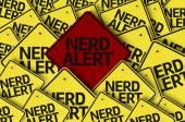Nerd Alert written on multiple road sign — Stock Photo