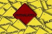 Phthalates written on multiple road sign — Stock Photo