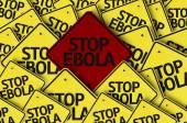 Stop Ebola written on multiple road sign — Stock Photo