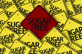 Sugar Free written on multiple road sign — Stock Photo