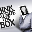 Business man with the text Think Outside the Box in a concept image — Stock Photo #54422063