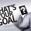Business man with the text What's your Goal? in a concept image — Stock Photo #54422217