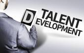 Business man with the text Talent Development in a concept image — Stock Photo