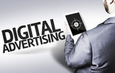 Business man with the text Digital Advertising in a concept image — Stock Photo