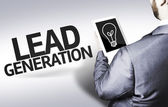 Business man with the text Lead Generation in a concept image — Stock Photo