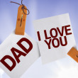 Dad I Love You on Paper Note — Foto Stock #54616879