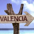 Valencia wooden sign — Stock Photo #54619205
