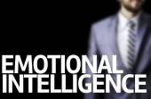 Emotional Intelligence written on a board with a business man — Stock Photo