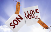 Son I Love You on Paper Note — Foto de Stock