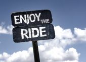 Enjoy The Ride sign — Foto Stock