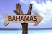 Bahamas wooden sign — Stock Photo