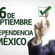 Businessman with text: 16 September, Mexico Independency (In Spanish) — Stock Photo #54625537