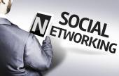Businessman with the text Social Networking — Foto de Stock