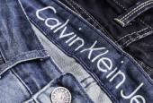Close up of the Calvin Klein Jeans — Zdjęcie stockowe