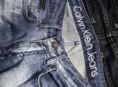 Close up of the Calvin Klein Jeans — Stock Photo
