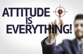 Businessman with text: Attitude is Everything! — Stock Photo