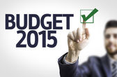 Businessman with text: Budget 2015 — Stock Photo