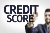Business man pointing the text: Credit Score — Stock Photo