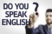 你会说语吗? — 图库照片