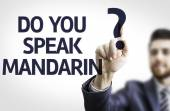 Business man pointing the text: Do you Speak Mandarin? — Stock Photo