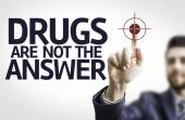 Business man pointing the text: Drugs are not the Answer — Foto de Stock