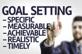 Board with text: Description of Global Setting — Stock Photo