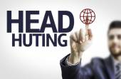 Board with text: Head Hunting — Stock Photo