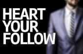 Follow your Heart written on a board — Stock Photo