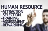 Board with text: Description of Human Resource — Stock Photo
