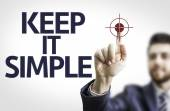 Board with text: Keep It Simple — Stock Photo