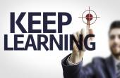 Board with text: Keep Learning — Stock Photo