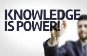 Board with text: Knowledge is Power — Stock Photo