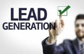 Business man pointing the text: Lead Generation — Stockfoto