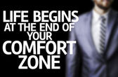 Life Begins at the end of Your Comfort Zone written on a board — Stock Photo