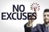 Board with text: No Excuses — Stock Photo