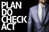 Plan Do Check Act written on a board — Stock Photo