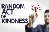 Business man pointing the text: Random Act of Kindness — Foto Stock
