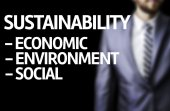 Sustainability Descriptions written on a board — Foto de Stock