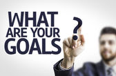 Business man pointing the text: What are Your Goals? — Stock fotografie