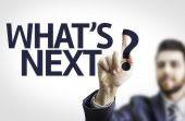 Business man pointing the text: What's Next? — Stock Photo