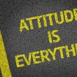 Attitude is Everything written on road — Stock Photo #54638723