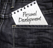 Personal Development written on a peace of paper — Stock Photo