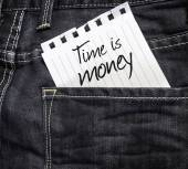 Time is Money written on paper — Stock Photo