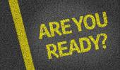 Are you ready? written on road — Stock Photo