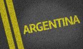 Argentina written on road — Stock Photo
