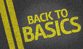 Back to Basics written on road — Stock Photo